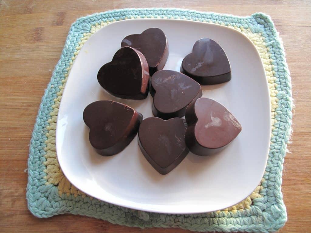Dark Chocolate Hazelnut Hearts